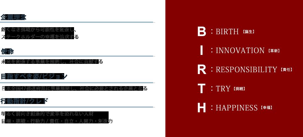 Birth47 企業理念